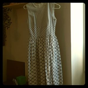 Knee length a line dress